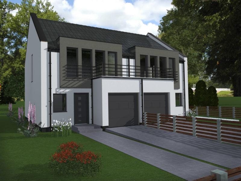 Dom dwulokalowy jednorodzinny - Mrowino
